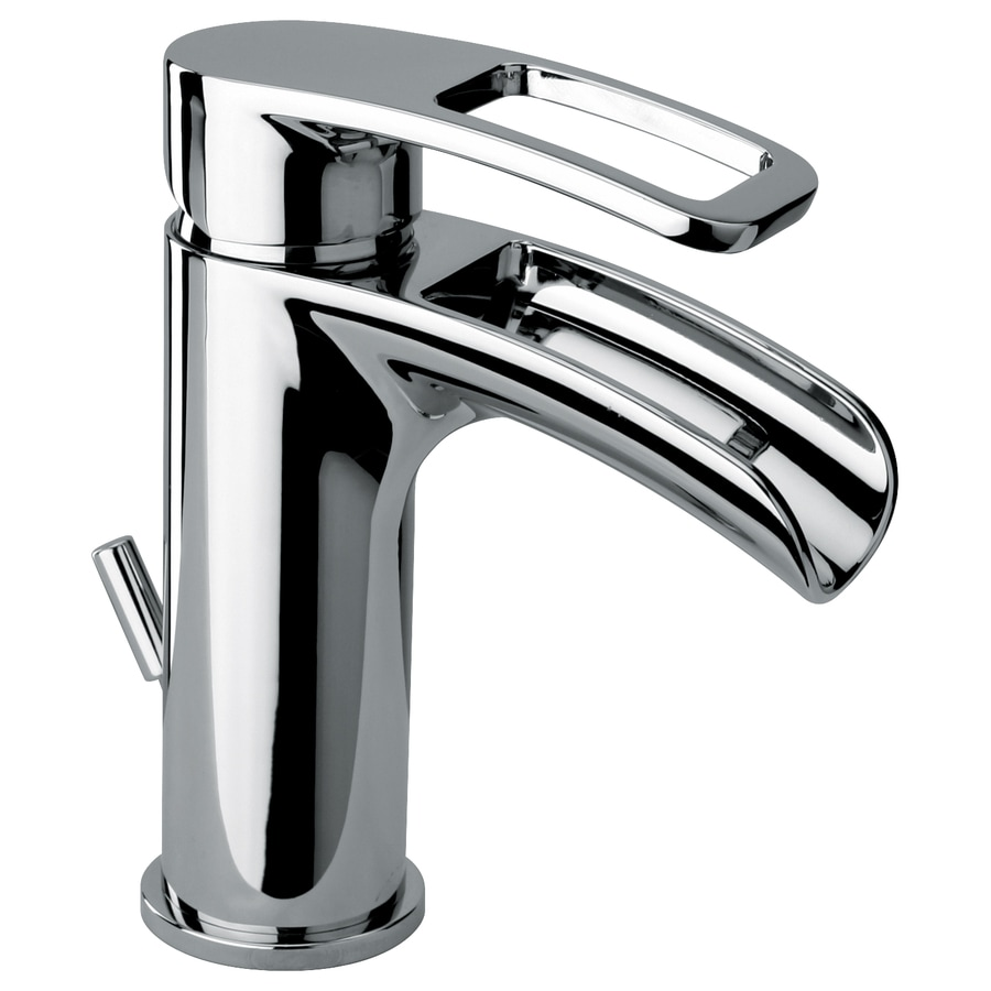 LaToscana Novello Chrome 1-Handle Single Hole WaterSense Bathroom Faucet (Drain Included)
