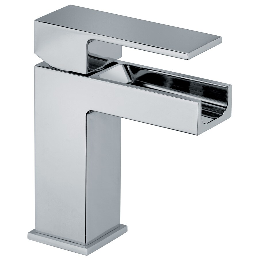 LaToscana Dax Chrome 1-Handle Single Hole WaterSense Bathroom Faucet (Drain Included)