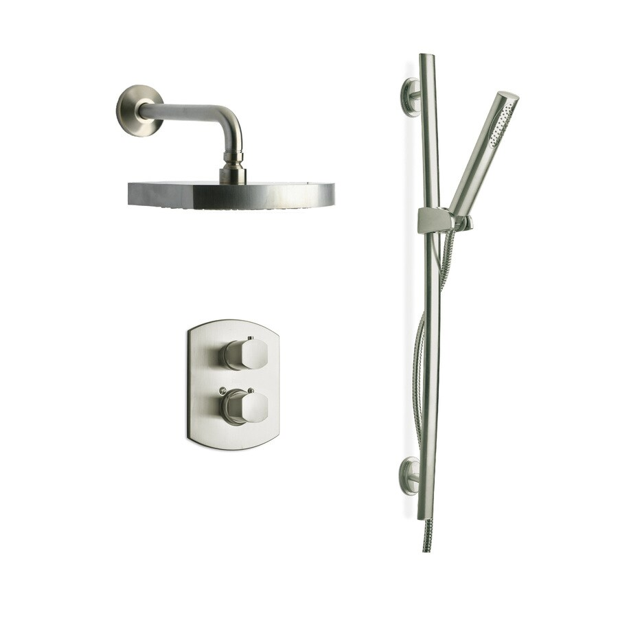 LaToscana Novello Brushed Nickel 2-Handle WaterSense Shower Faucet with Multi-Function Showerhead