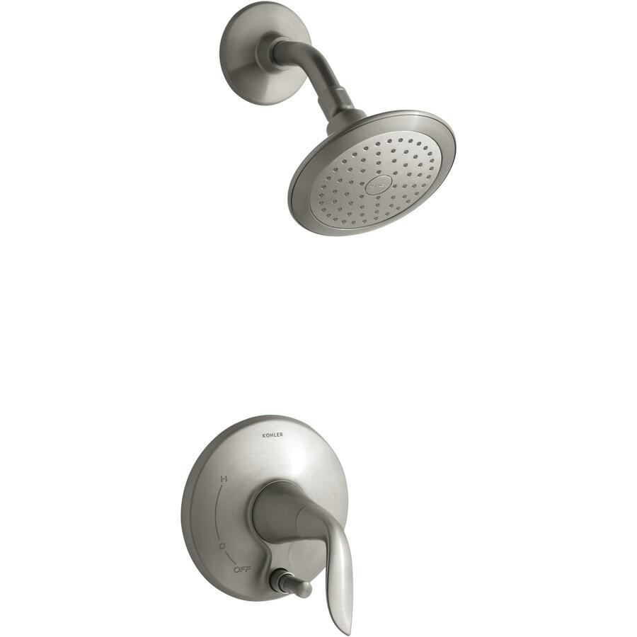 KOHLER Refinia Vibrant Brushed Nickel 1-Handle Shower Faucet Trim Kit with Single Function Showerhead