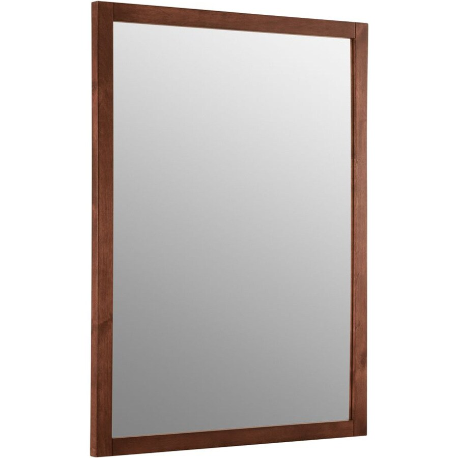 KOHLER Evandale 23.5-in W x 32-in H Sapele Rectangular Bathroom Mirror