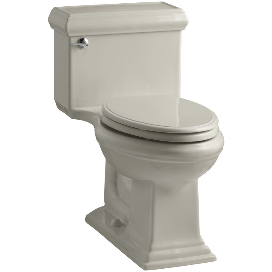 KOHLER Memoirs Sandbar 1.28-GPF (4.85-LPF) 12 Rough-In WaterSense Elongated 1-Piece Chair Height Toilet