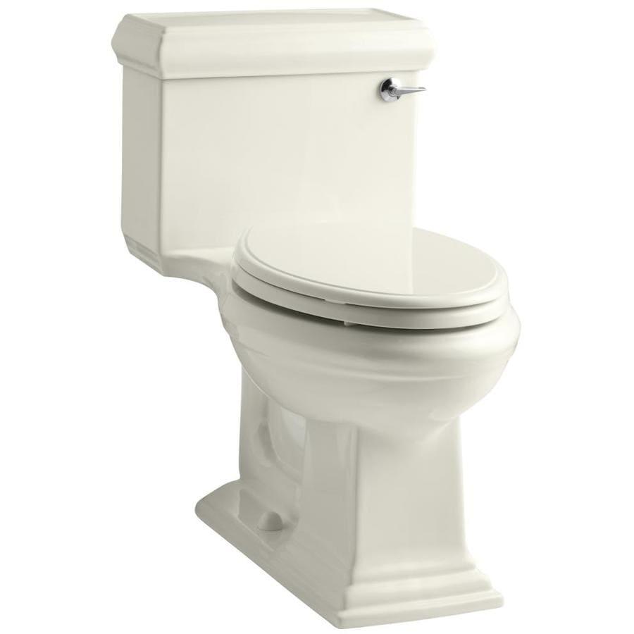KOHLER Memoirs Biscuit 1.28-GPF (4.85-LPF) 12 Rough-In WaterSense Elongated 1-Piece Chair Height Toilet