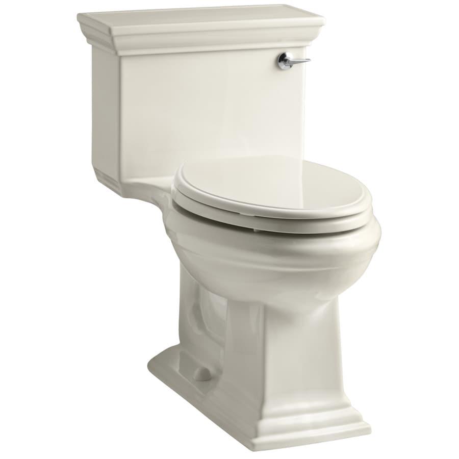 KOHLER Memoirs Almond 1.28-GPF (4.85-LPF) 12 Rough-In WaterSense Elongated 1-Piece Chair Height Toilet
