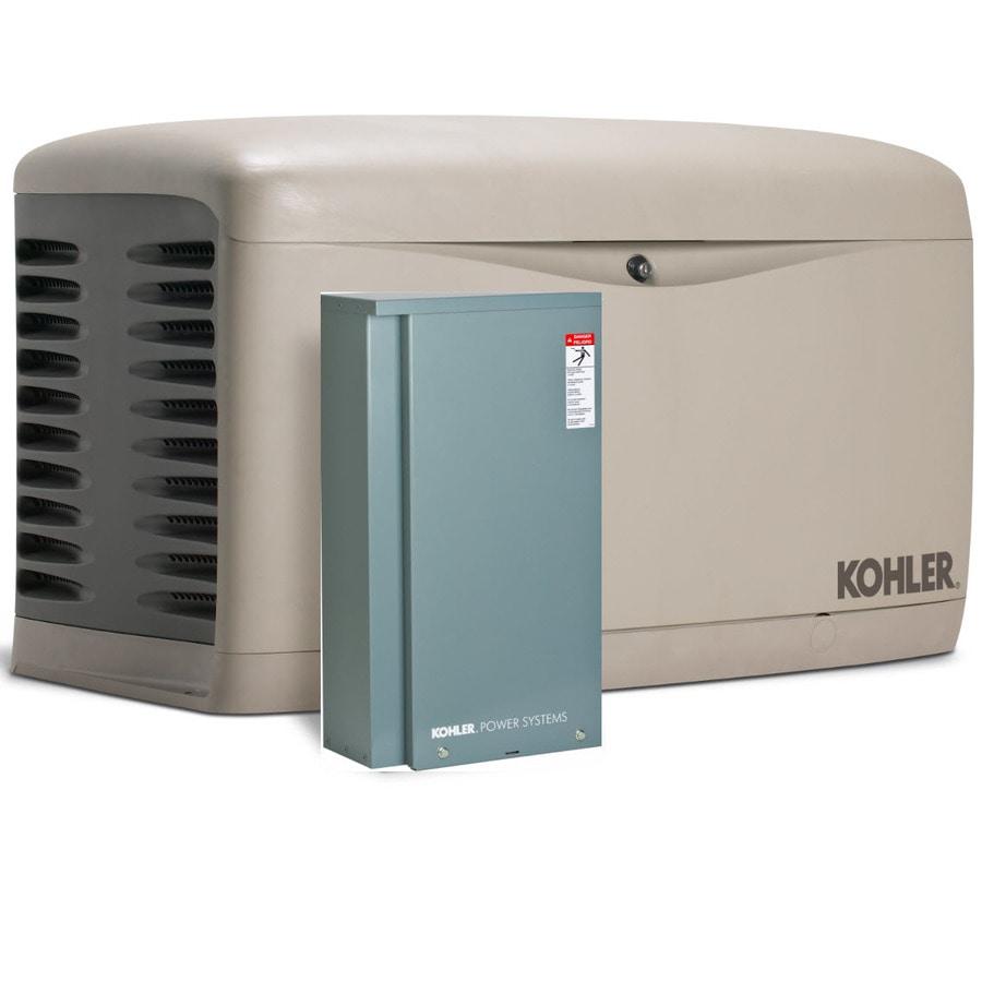 KOHLER 14000-Watt (LP)/12000-Watt (NG) Standby Generator with Automatic Transfer Switch