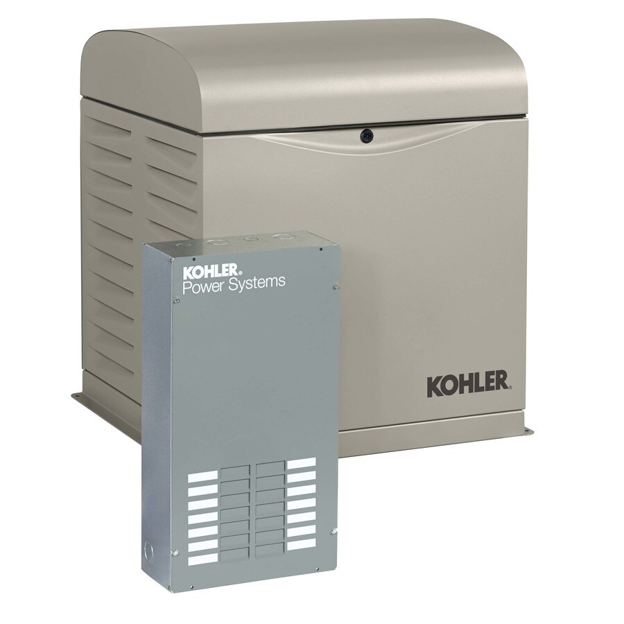 KOHLER 8000-Watt (LP)/7000-Watt (NG) Standby Generator with Automatic Transfer Switch