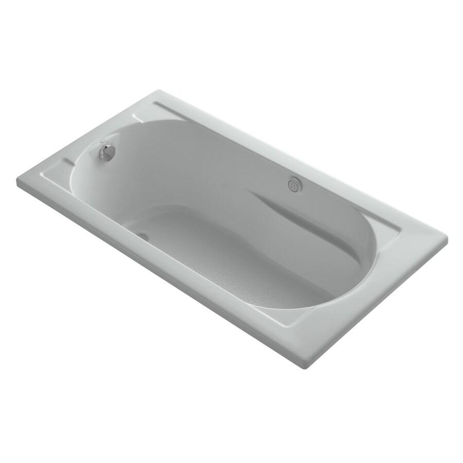 KOHLER Devonshire 60-in L x 32-in W x 20-in H Ice Grey Oval In Rectangle Air Bath