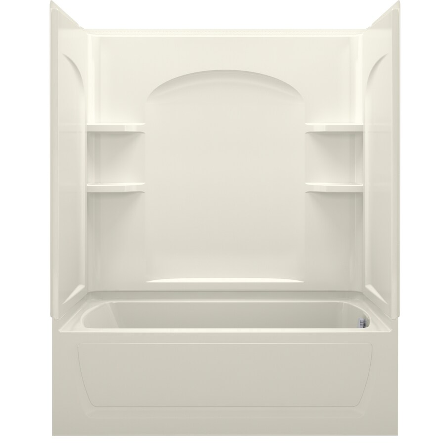 Sterling Ensemble Biscuit Vikrell Oval Whirlpool Tub (Common: 32-in x 60-in; Actual: 75.25-in x 32-in x 60-in)