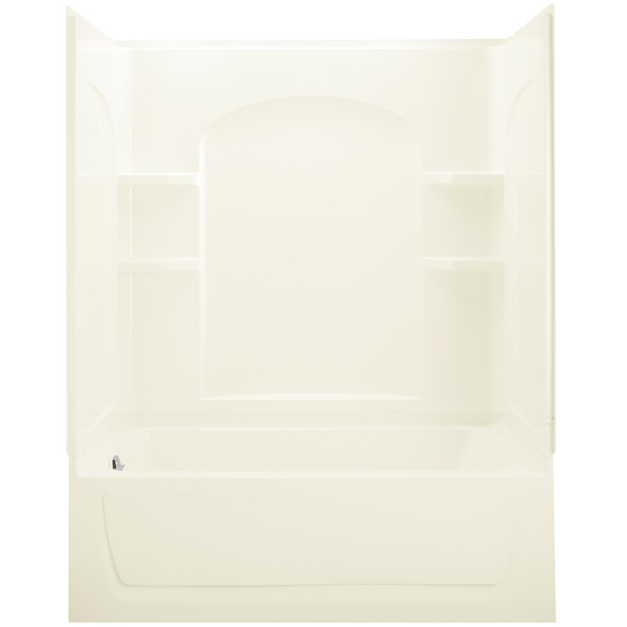 Sterling Ensemble Biscuit Vikrell Rectangular Whirlpool Tub (Common: 32-in x 60-in; Actual: 75.25-in x 32-in x 60-in)