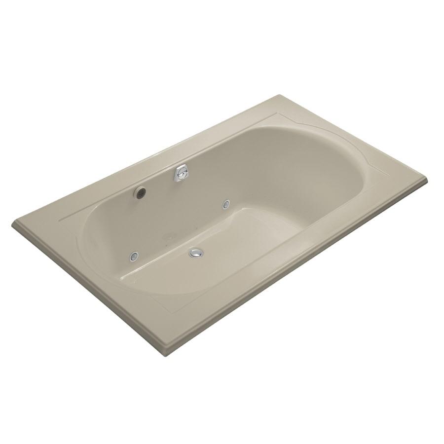 KOHLER Memoirs 72-in L x 42-in W x 22-in H Acrylic Oval In Rectangle Drop-in Air Bath