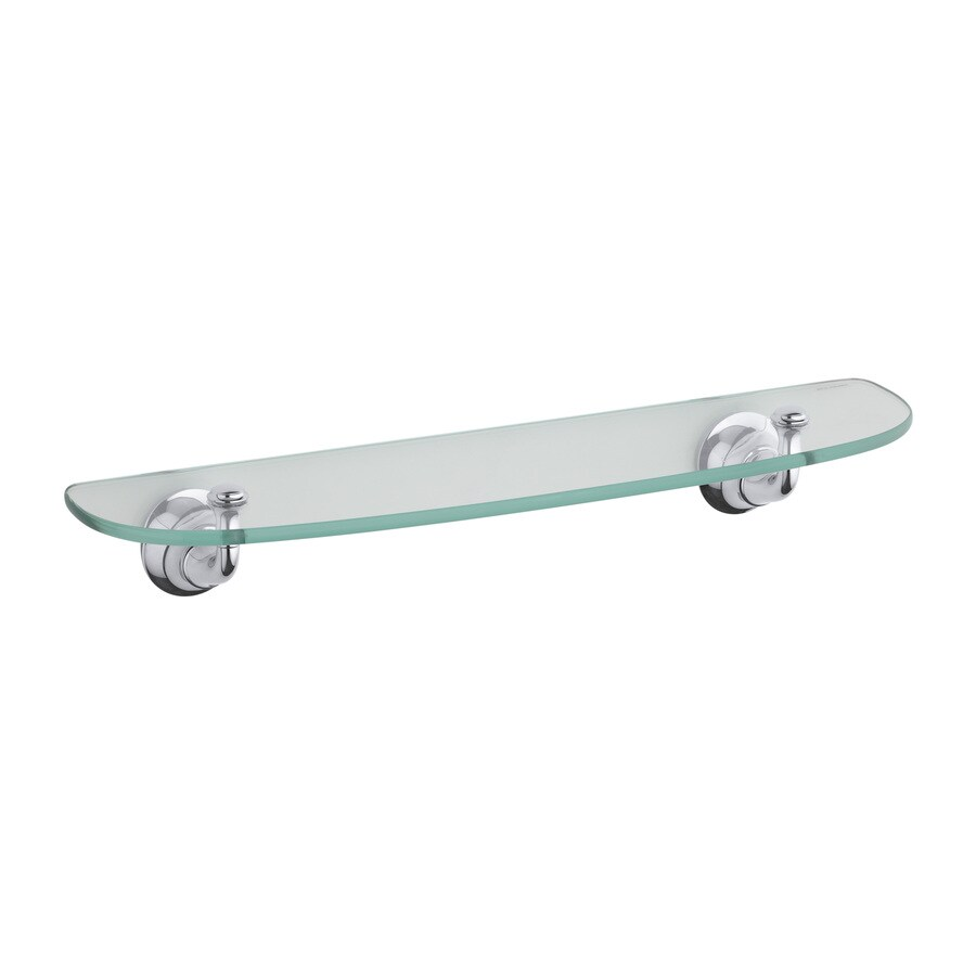 KOHLER Forte Polished Chrome Glass Bathroom Shelf