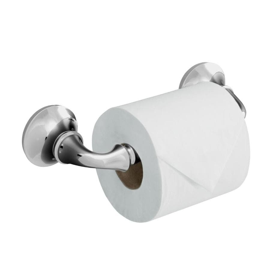 KOHLER Forte Polished Chrome Surface Mount Toilet Paper Holder