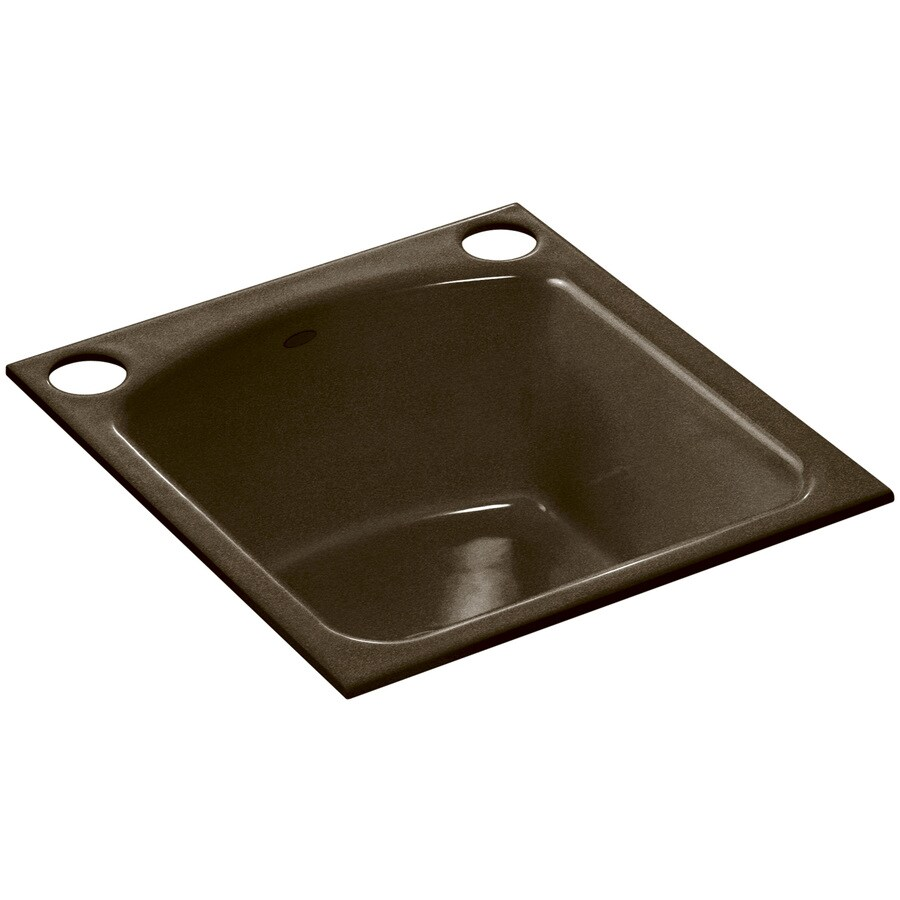 ... and Tan Single-Basin 2-Hole Cast Iron Undermount Commercial Bar Sink