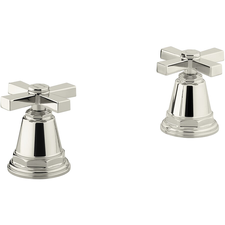 KOHLER Pinstripe Vibrant Polished Nickel 2-Handle Bathtub and Shower Faucet Trim Kit