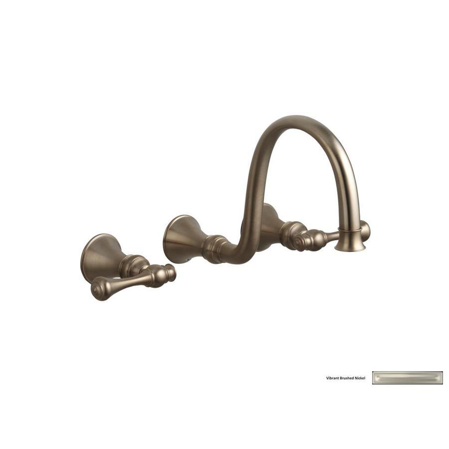 KOHLER Revival Vibrant Brushed Nickel 2-Handle Widespread WaterSense Bathroom Faucet