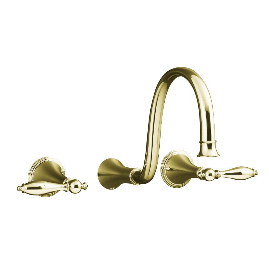 KOHLER Finial Vibrant French Gold 2-Handle Widespread Bathroom Faucet