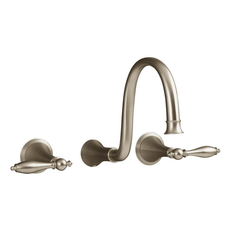 KOHLER Finial Vibrant Brushed Bronze 2-Handle Widespread WaterSense Bathroom Faucet
