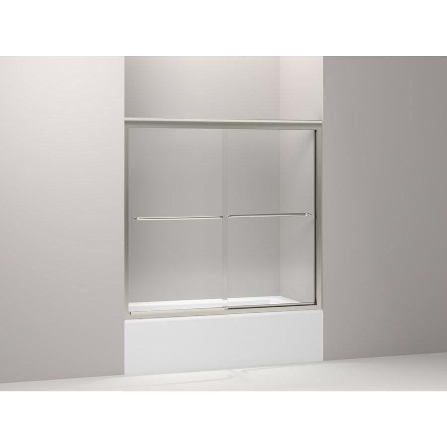 KOHLER Fluence 59.625-in W x 55.75-in H Frameless Bathtub Door
