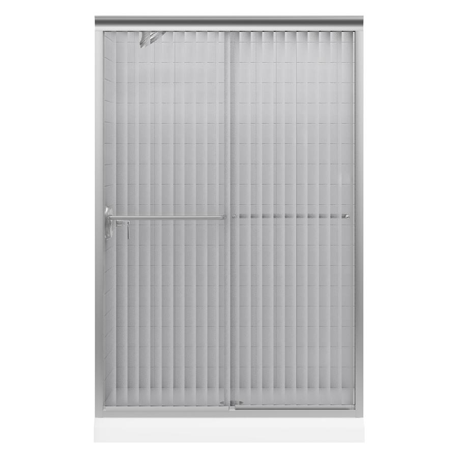 KOHLER Fluence 44-in to 47-in W x 70-in H Matte Nickel Sliding Shower Door