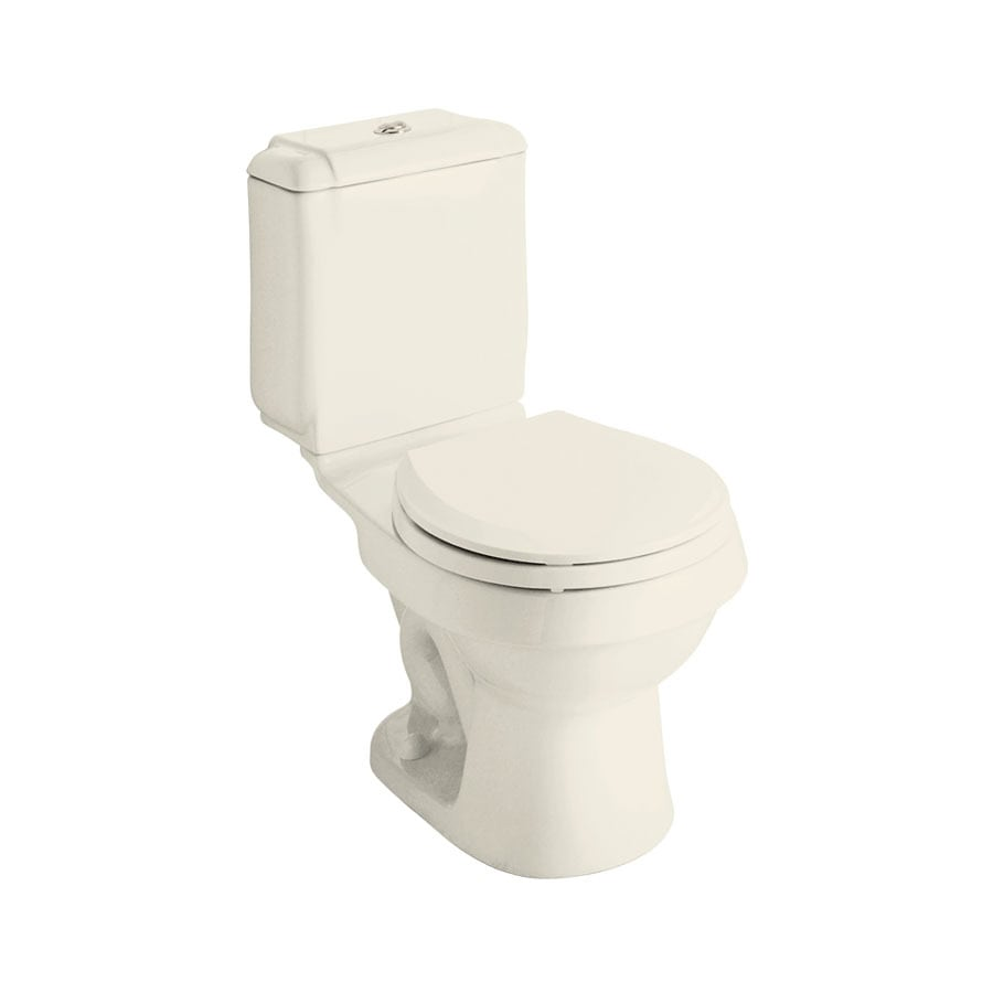 Sterling Rockton Biscuit 1.6; 0.8-GPF 12-in Rough-In WaterSense Round Dual-Flush 2-Piece Standard Height Toilet