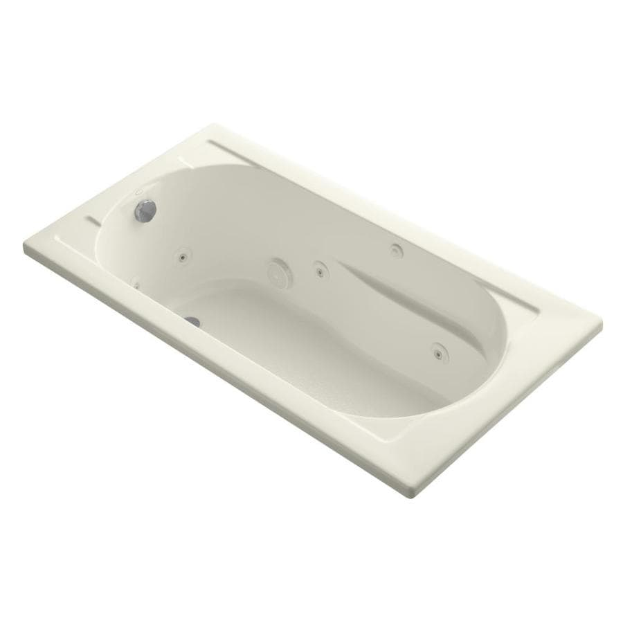 KOHLER Devonshire Biscuit Acrylic Oval In Rectangle Whirlpool Tub (Common: 32-in x 60-in; Actual: 20-in x 32-in x 60-in)