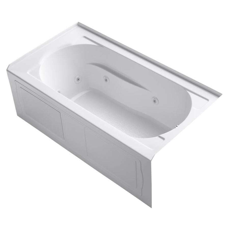 KOHLER Devonshire White Acrylic Oval In Rectangle Whirlpool Tub (Common: 32-in x 60-in; Actual: 20-in x 32-in x 60-in)
