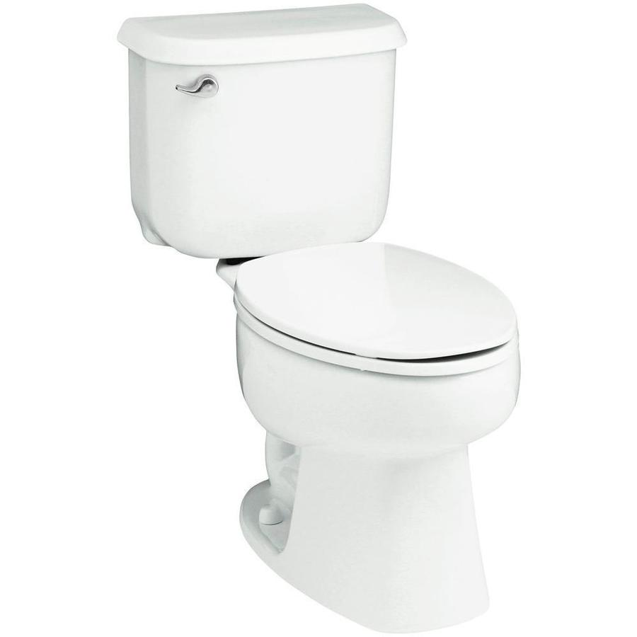 Sterling Windham White 1.6-GPF (6.06-LPF) 10-in Rough-In Elongated 2-Piece Standard Height Toilet