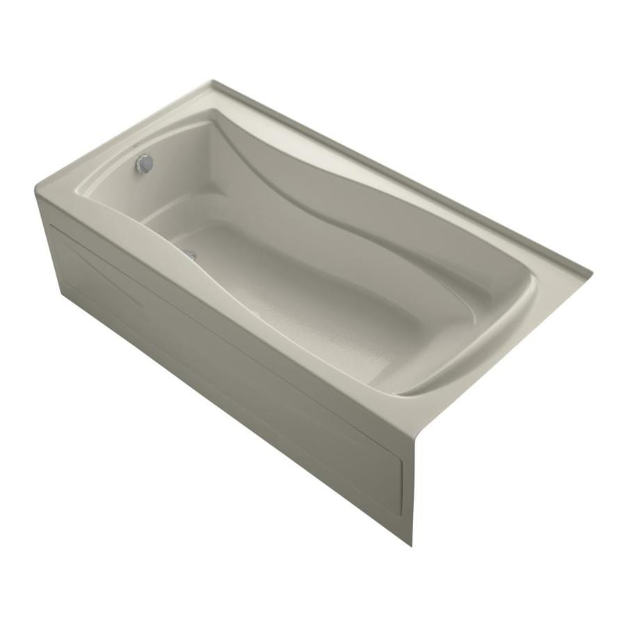 KOHLER Mariposa 72-in L x 36-in W x 20-in H Sandbar Hourglass In Rectangle Air Bath