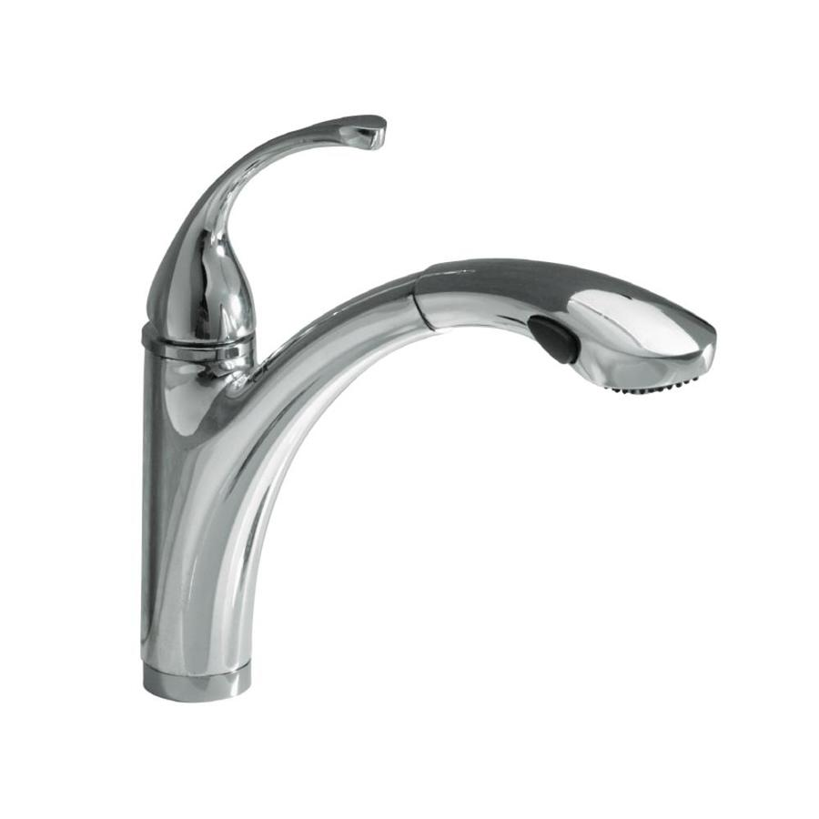 KOHLER Forte Polished Chrome 1-Handle Pull-Out Kitchen Faucet
