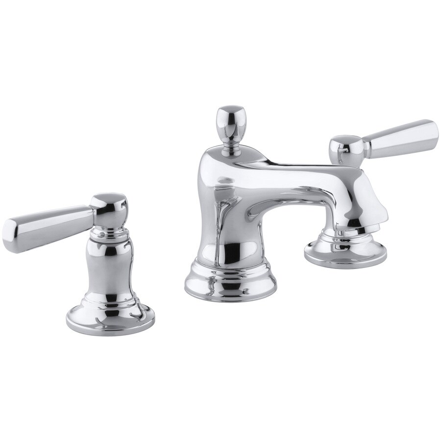 Shop KOHLER Bancroft Polished Chrome 2 Handle Widespread WaterSense Bathroom