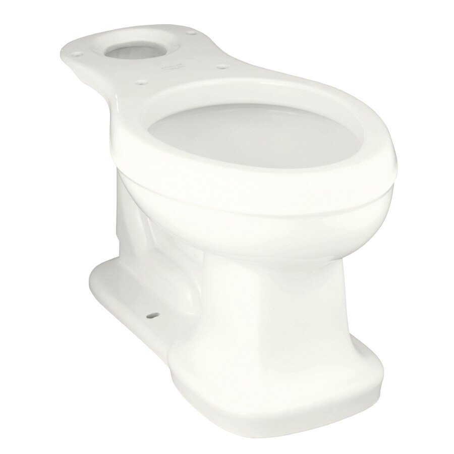 KOHLER Bancroft Chair Height White 12-in Rough-In Elongated Toilet Bowl