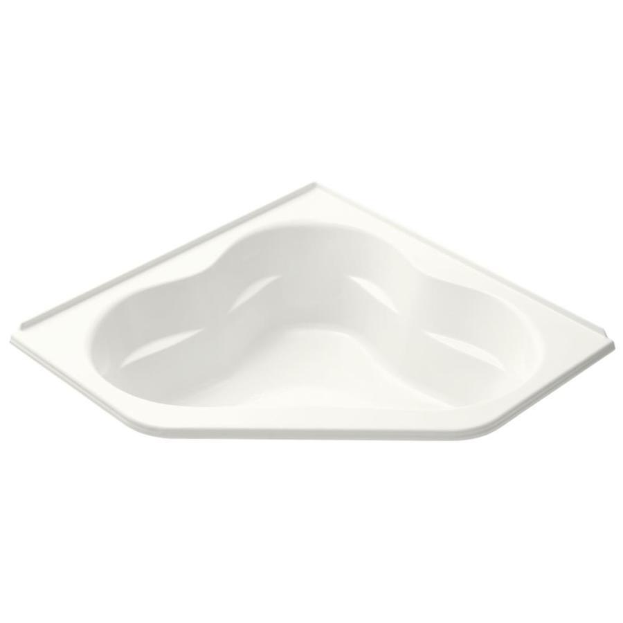 KOHLER Tercet White Acrylic Corner Drop-in Bathtub with Front Center Drain (Common: 60-in x 60-in; Actual: 21-in x 60-in x 60-in)
