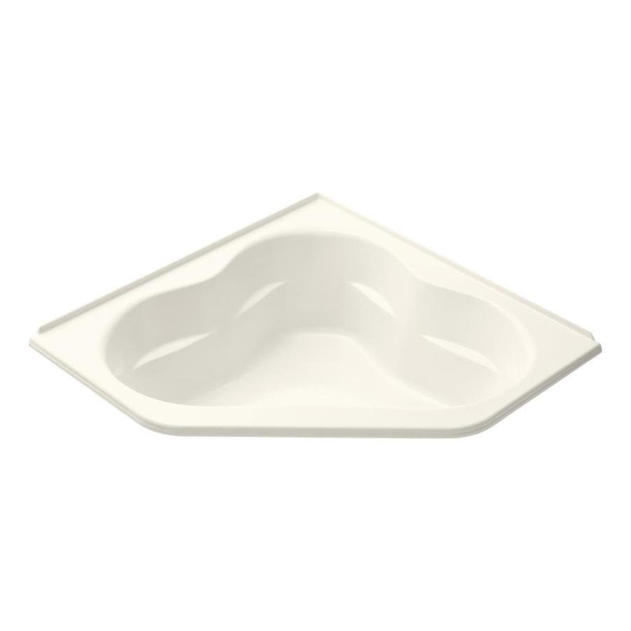KOHLER Tercet Biscuit Acrylic Corner Drop-in Bathtub with Front Center Drain (Common: 60-in x 60-in; Actual: 21-in x 60-in x 60-in)
