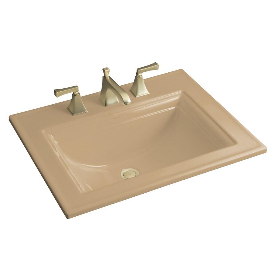 KOHLER Mexican Sand Drop-in Rectangular Bathroom Sink with Overflow
