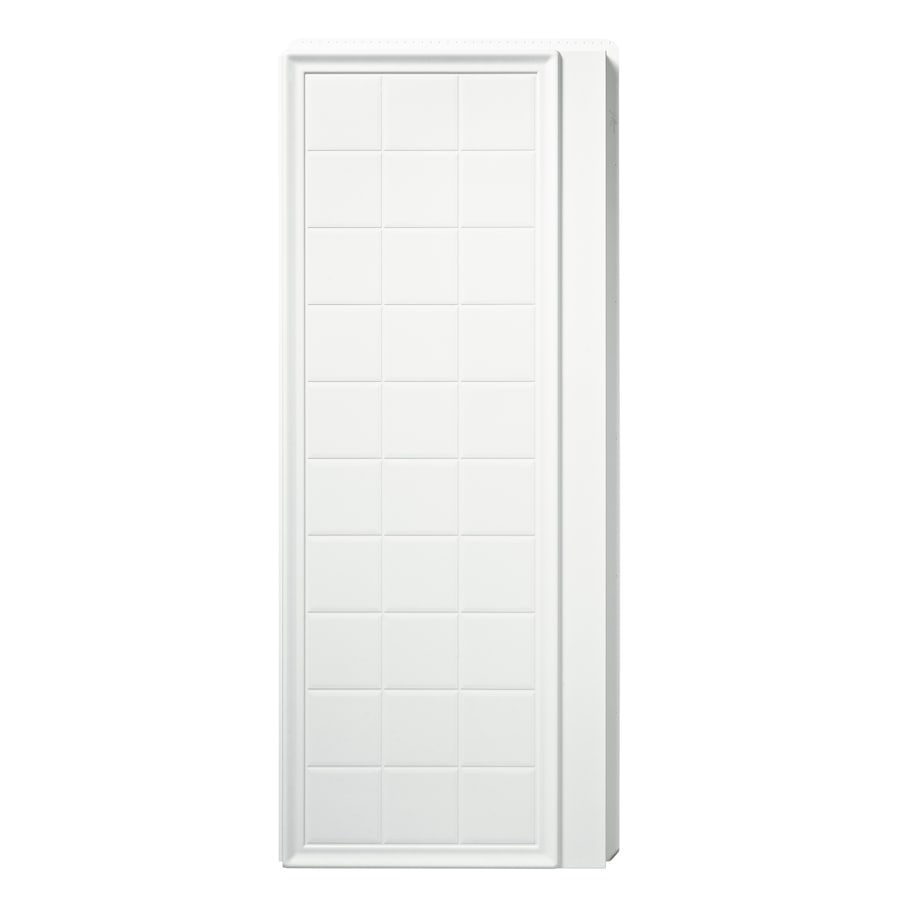 Sterling Ensemble White Shower Wall Surround Side Panel (Common: 2-in; Actual: 72.5-in x 1.625-in)