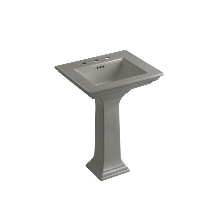 Kohler Memoirs 24 Pedestal Sink : Shop KOHLER Memoirs 34.75-in H Thunder Grey Fire Clay Pedestal Sink at ...