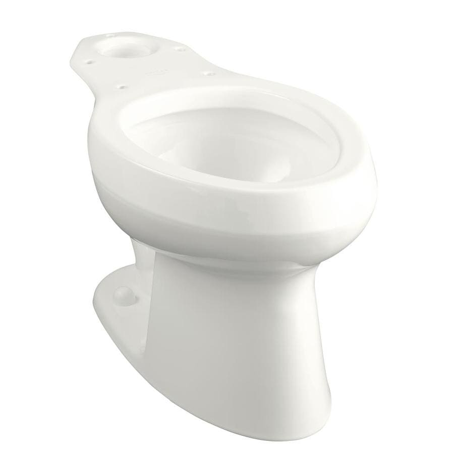 KOHLER Wellworth Standard Height White 12-in Rough-In Pressure Assist Elongated Toilet Bowl