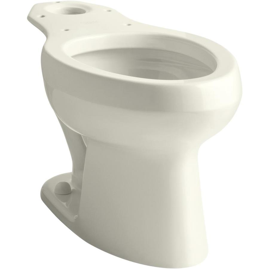KOHLER Wellworth Standard Height Biscuit 12-in Rough-In Pressure Assist Elongated Toilet Bowl
