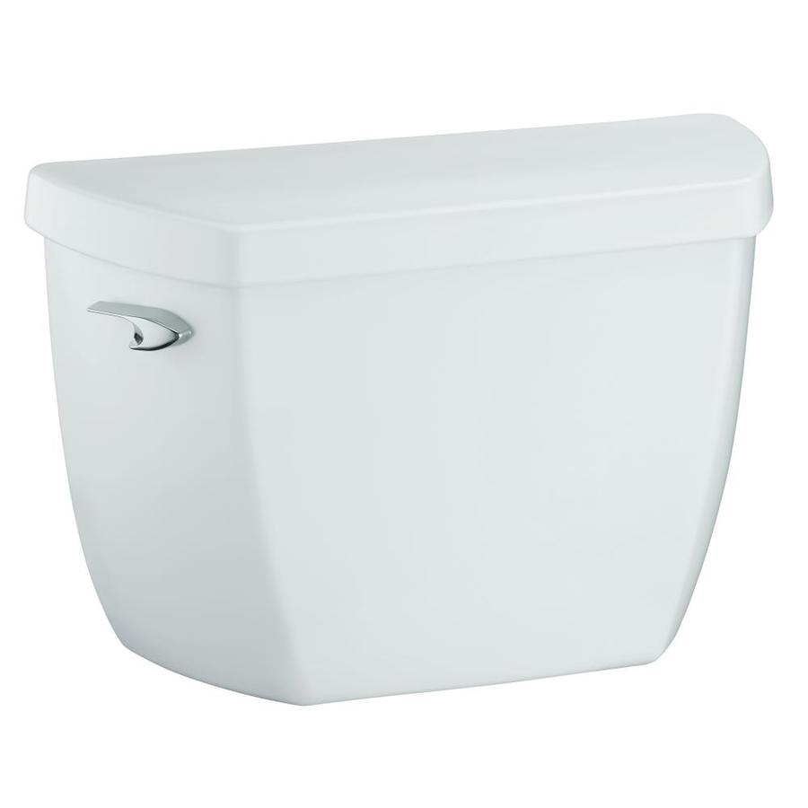 KOHLER Highline White 1.4-GPF (5.3-LPF) 12-in Rough-In Pressure Assist Single-Flush Toilet Tank