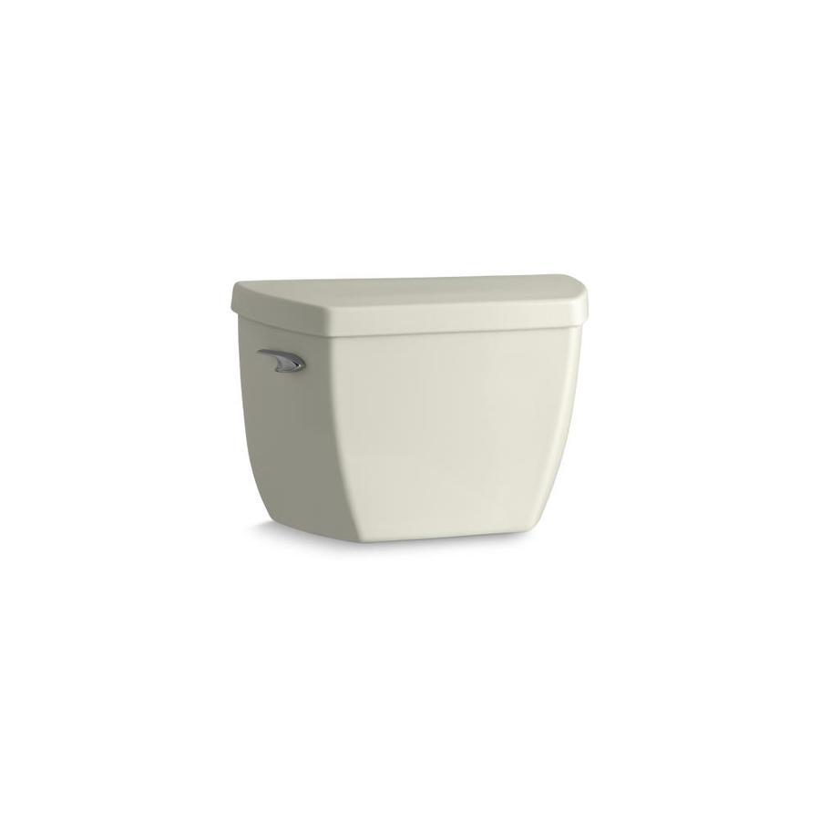 KOHLER Wellworth Biscuit 1.4-GPF (5.3-LPF) 12-in Rough-In Pressure Assist Single-Flush Toilet Tank