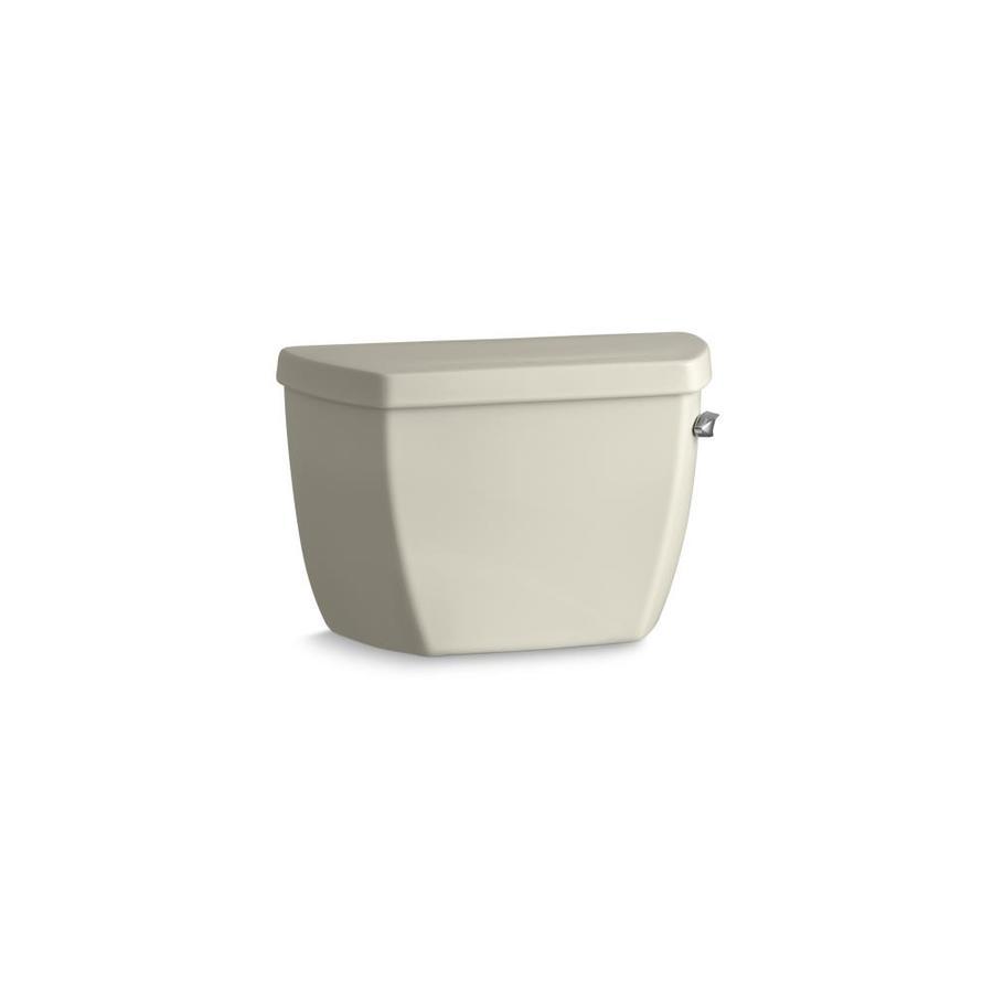 KOHLER Wellworth Almond 1.4-GPF (5.3-LPF) 12-in Rough-In Pressure Assist Single-Flush Toilet Tank