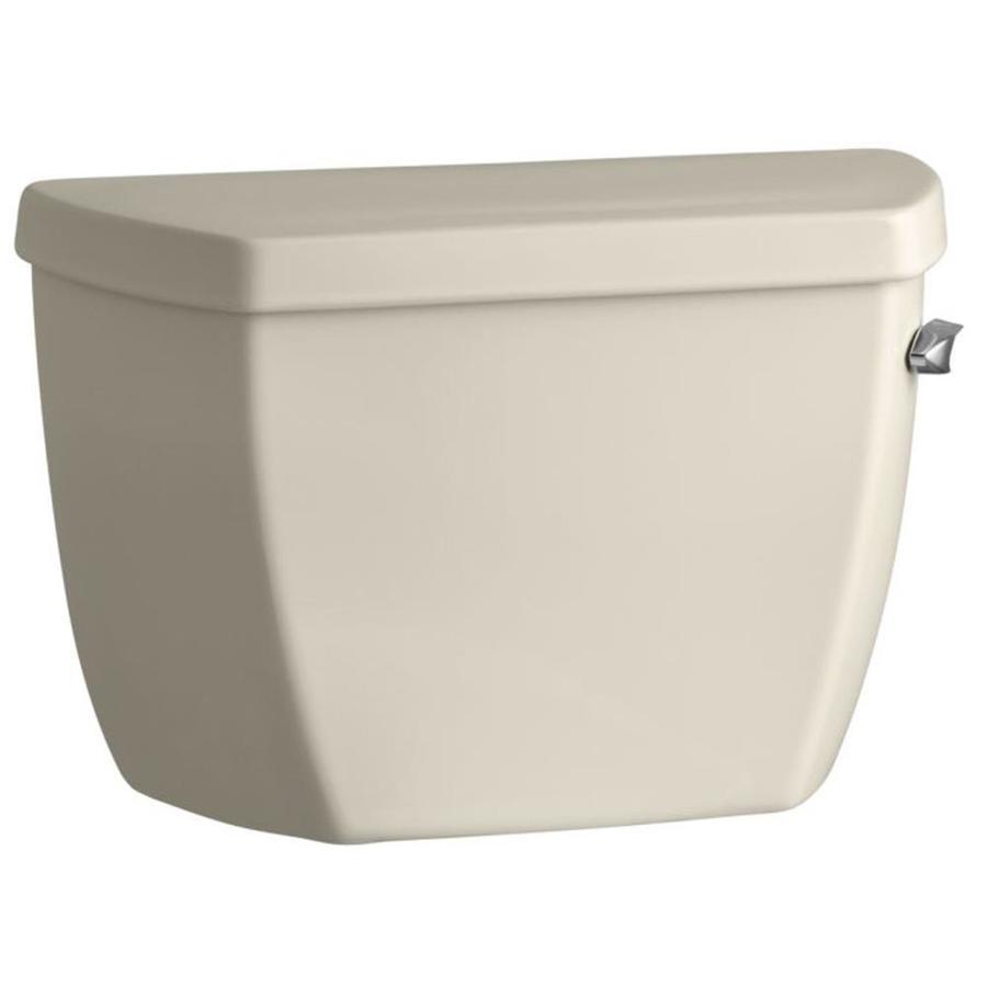 KOHLER Highline Almond 1.6-GPF (6.06-LPF) 12 Rough-In Single-Flush High-Efficiency Toilet Tank