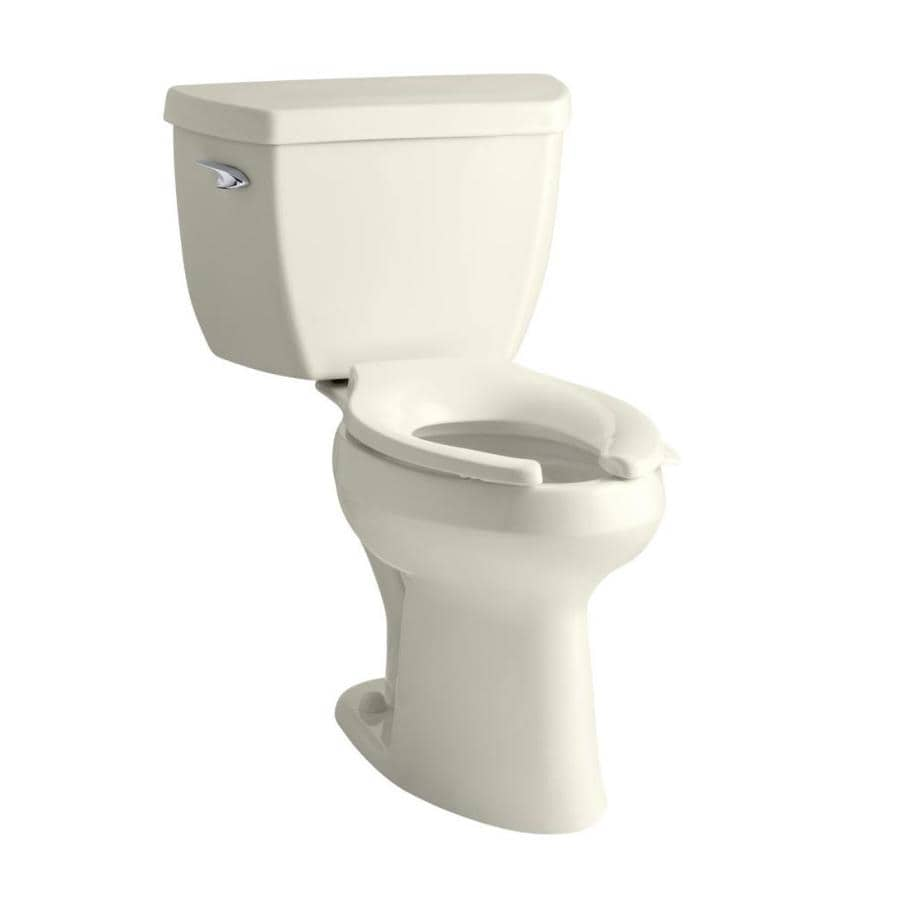 KOHLER Highline Classic Biscuit 1.6-GPF (6.06-LPF) 12 Rough-In Elongated Pressure Assist 2-Piece Standard Height Toilet