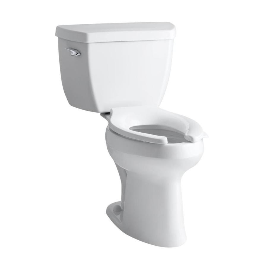 KOHLER Highline Classic White 1.6-GPF (6.06-LPF) 12 Rough-In Elongated Pressure Assist 1-Piece Standard Height Toilet