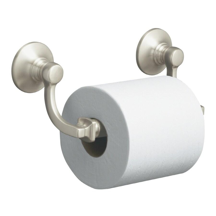 KOHLER Bancroft Vibrant Brushed Nickel Surface Mount Toilet Paper Holder