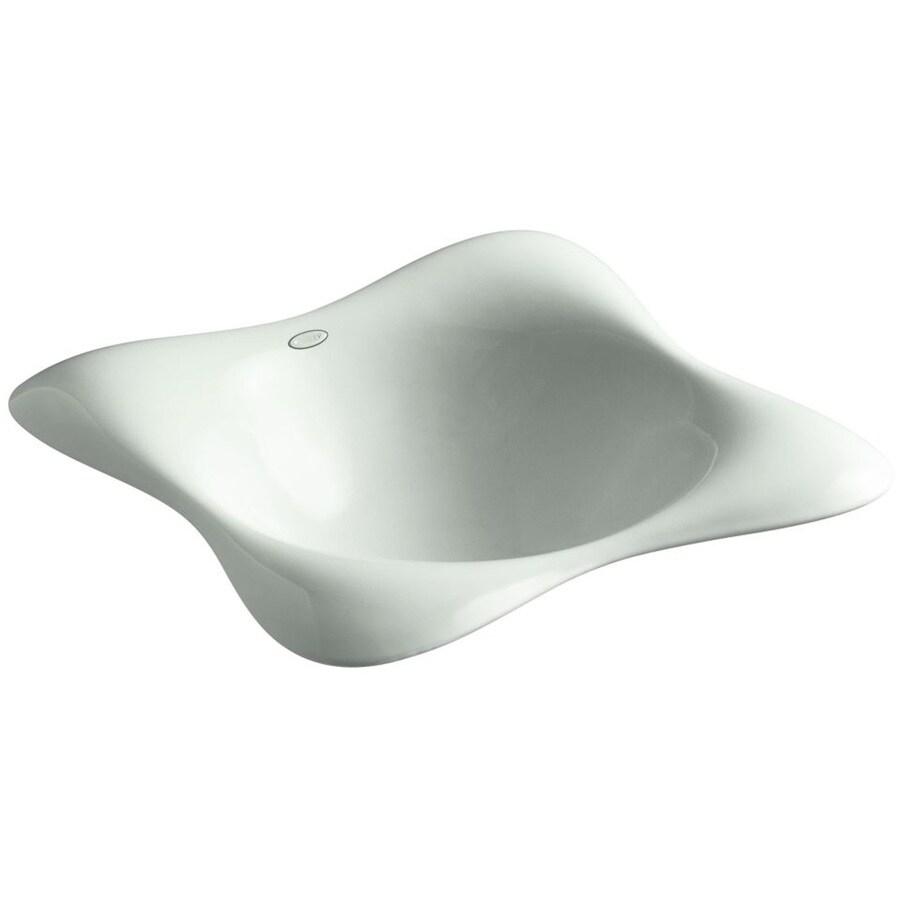KOHLER Dolce Vita Sea Salt Cast Iron Drop-in Rectangular Bathroom Sink