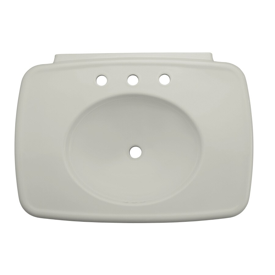 KOHLER 30.38-in L x 22.25-in W Ice Grey Fire Clay Pedestal Sink Top