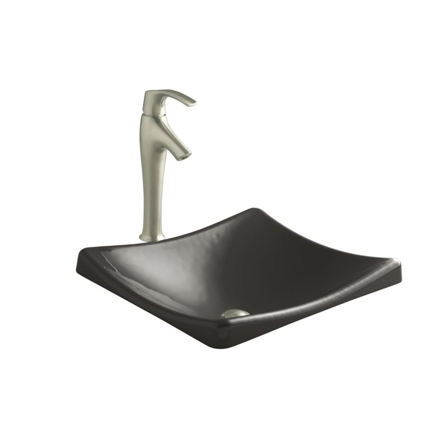 KOHLER Demilav Thunder Grey Cast Iron Drop-in Rectangular Bathroom Sink