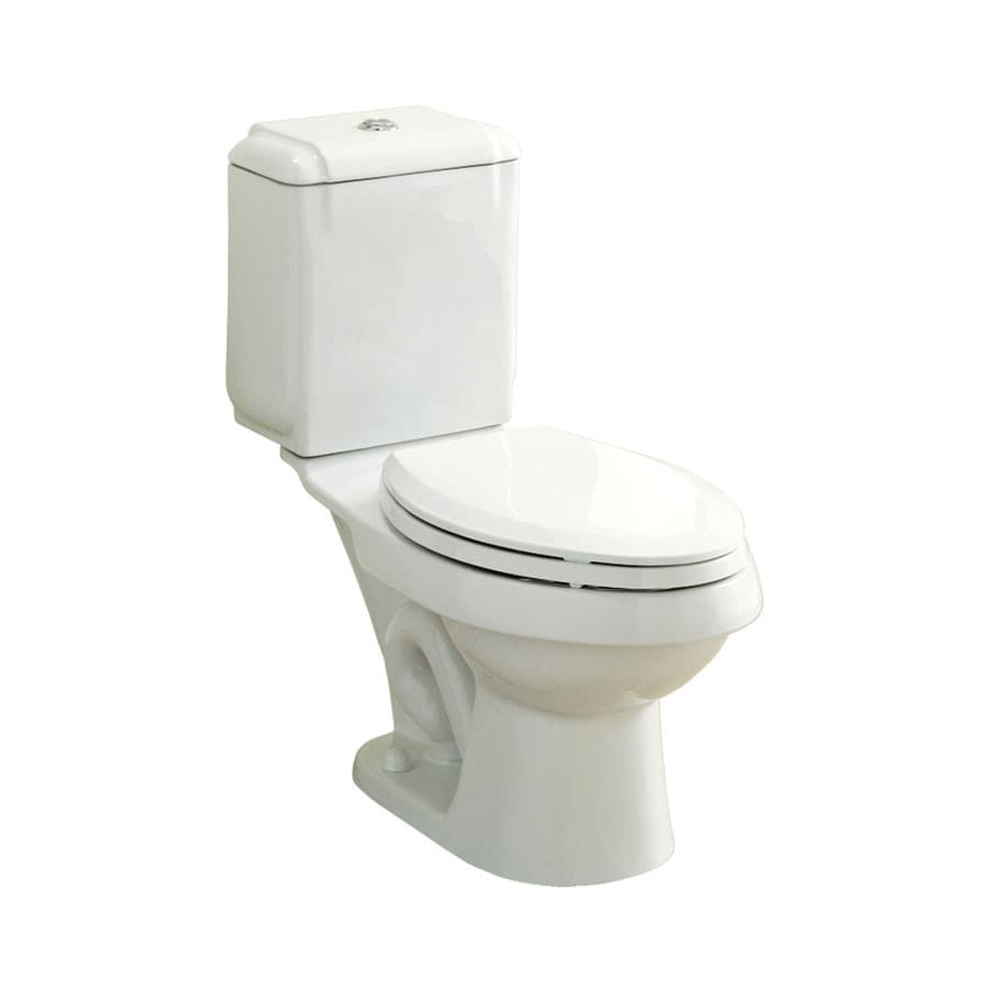 Sterling Rockton White 1.6; 0.8-GPF 12-in Rough-In WaterSense Elongated Dual-Flush 2-Piece Standard Height Toilet