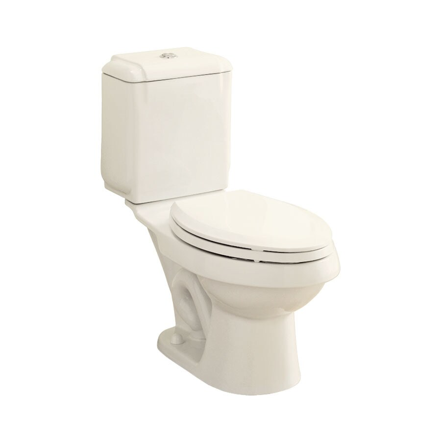 Sterling Rockton Biscuit 1.6; 0.8-GPF 12-in Rough-In WaterSense Elongated Dual-Flush 2-Piece Standard Height Toilet